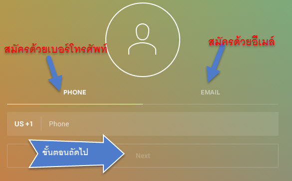 สมัคร Instagram to information