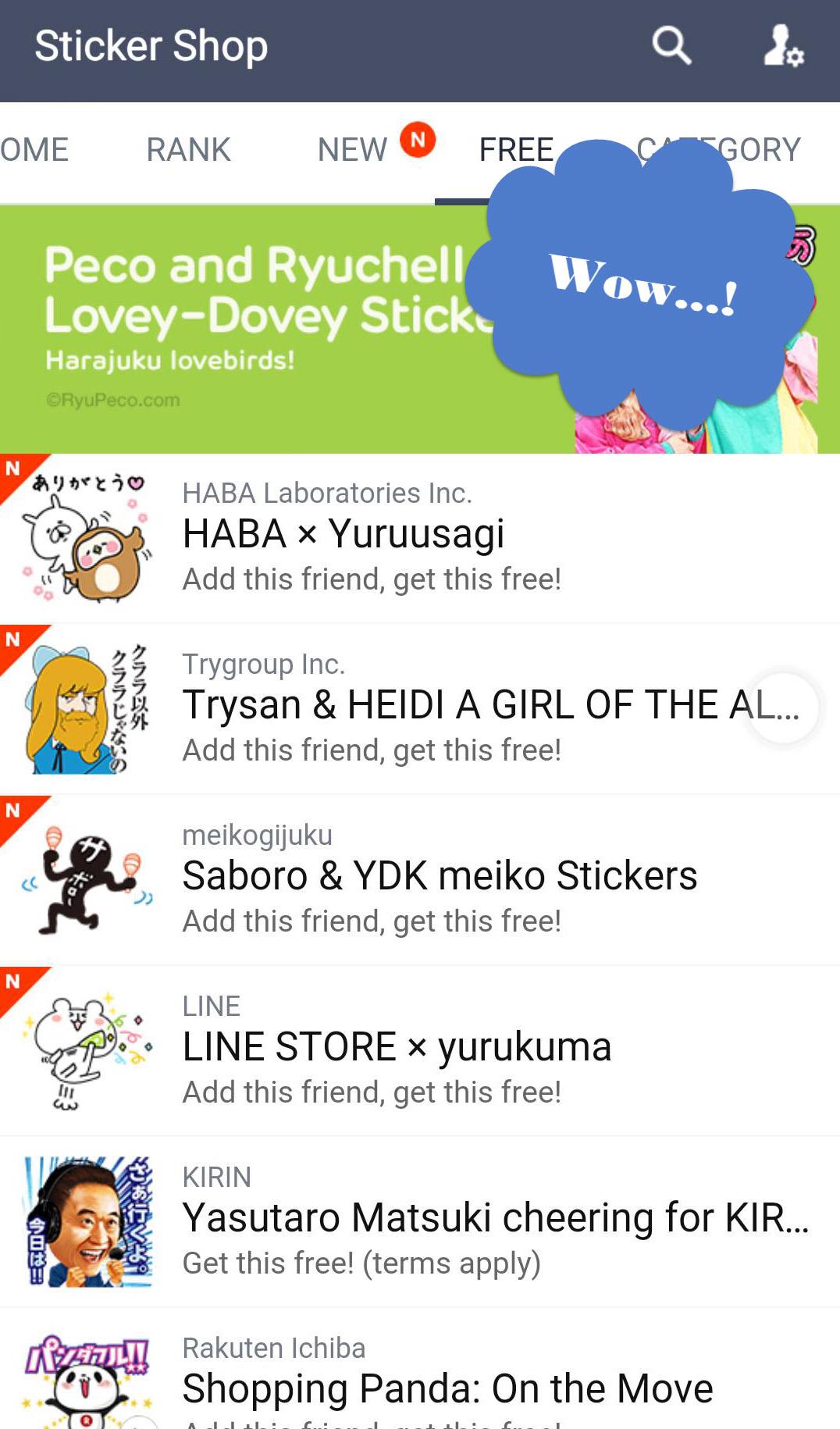 Sticker Line Free Japanese stickers