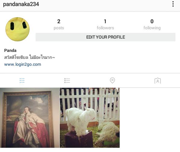 เมนูหลัก Instagram หน้า Profile