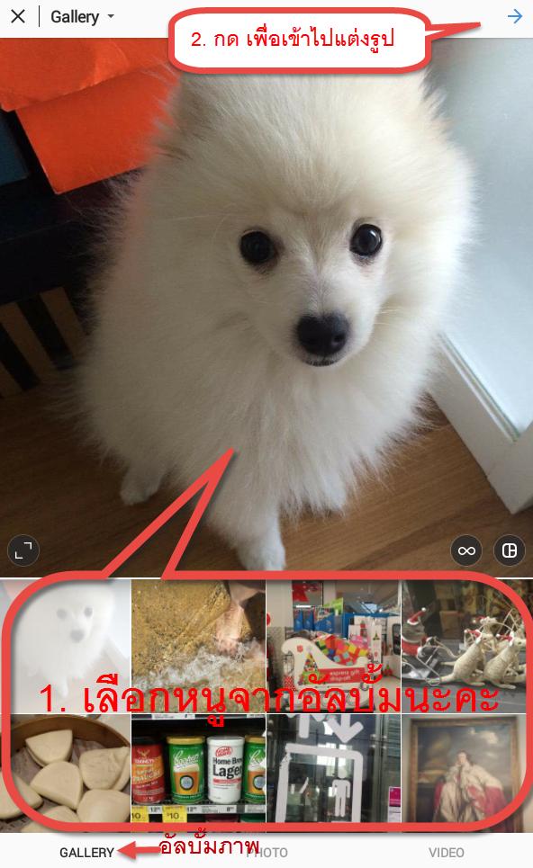 วิธีเล่น Instagram photos